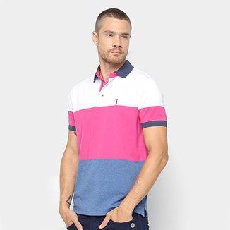 Camisa Polo Aleatory Estampa Listrada Masculina 23041e133a1a7