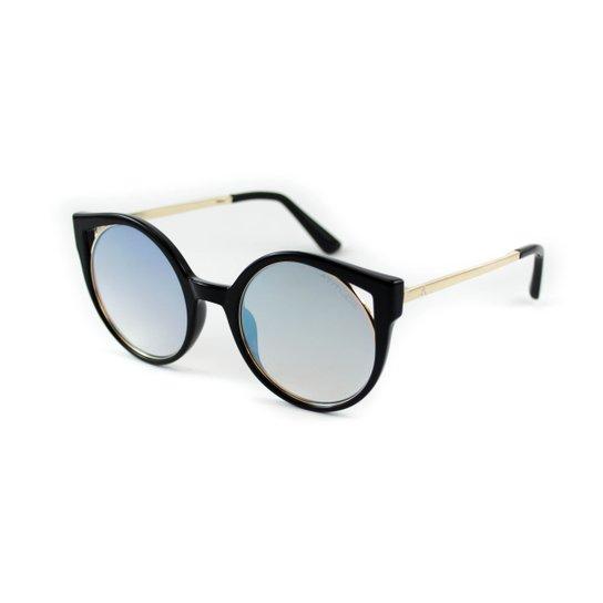 Óculos de Sol Atitude - Preto e Dourado - Compre Agora   Zattini f04d2430c9