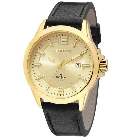 50aceb4dc79 Relógio Technos Golf Masculino Analógico - 2115KPZ 0D 2115KPZ 0D -  Preto+Dourado
