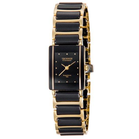 Relógio Technos Feminino Dourado e Preto - 5Y30MY 4P 5Y30MY 4P - Preto+ 008b869203