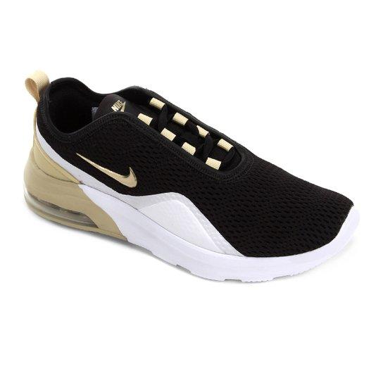 29b2c49f4 Tênis Nike Wmns Air Max Motion Feminino - Preto e Dourado | Zattini