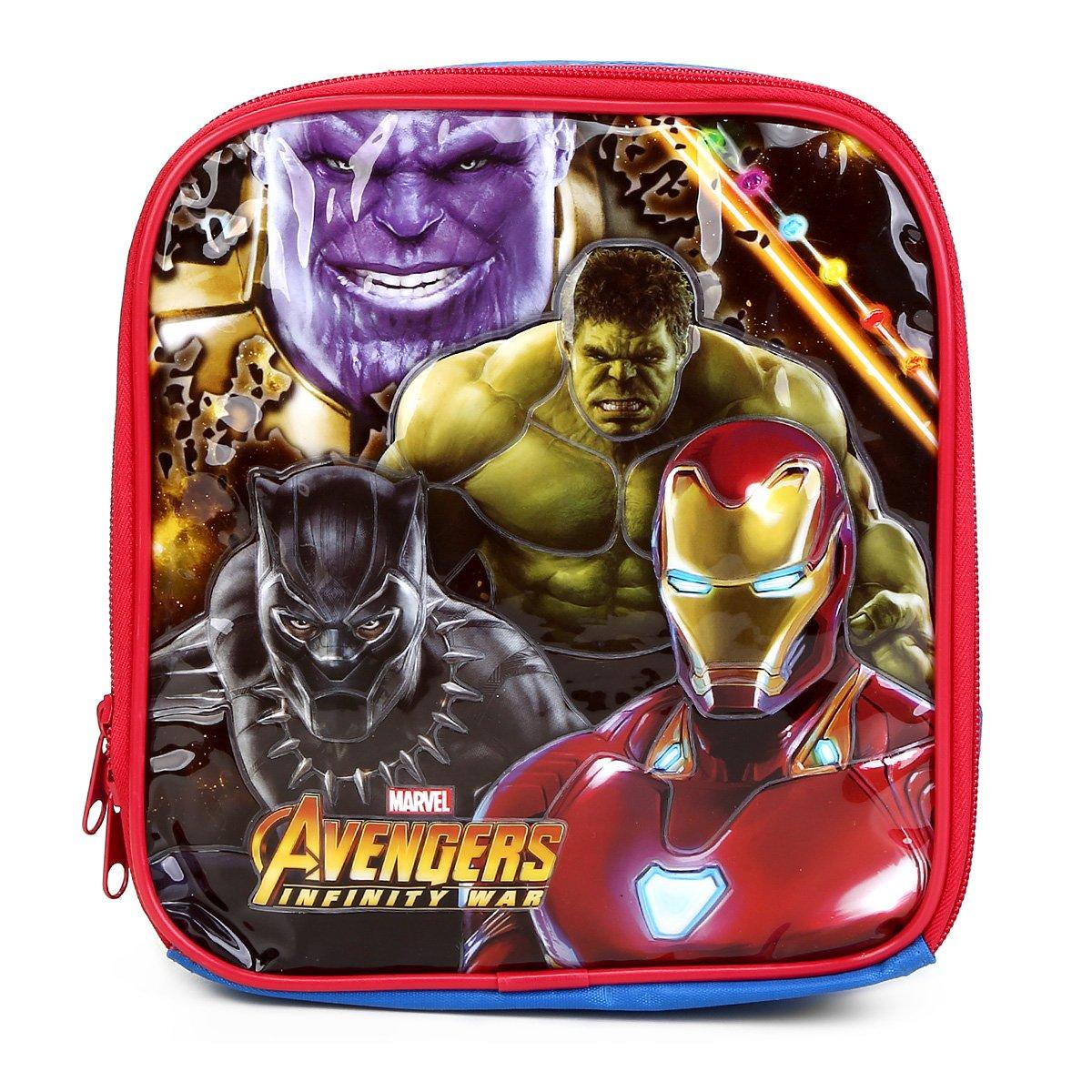 Lancheira Escolar Infantil Xeryus Avengers