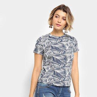 4ee3f9c0db Camiseta Flora Zuu Estampada Feminina