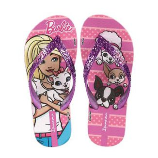 5863211db8 Chinelo Infantil Barbie Feminino