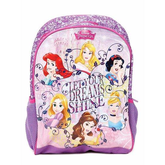61ab2a521 Mochila Escolar Princesas Infantil Disney Masculina - Lilás - Compre ...