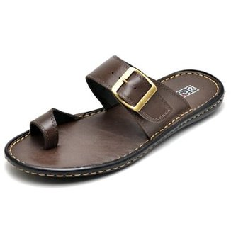 fc254b59a9c24 Sandália Couro Conforto Top Franca Shoes Masculino