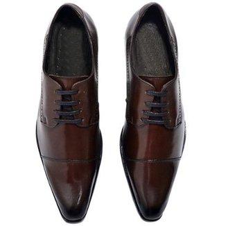 2ec1ee4229 Sapato Social Couro Top Franca Shoes Masculino