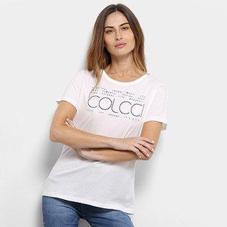 Camiseta Colcci Estampa Básica Feminina a39f9d6c970