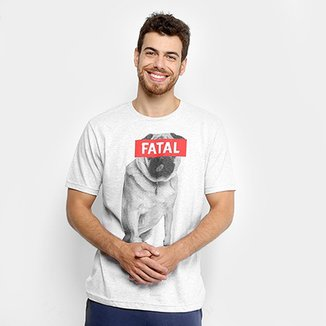 Camiseta Fatal Estampada Cachorro Masculina 984a3ba5e9b