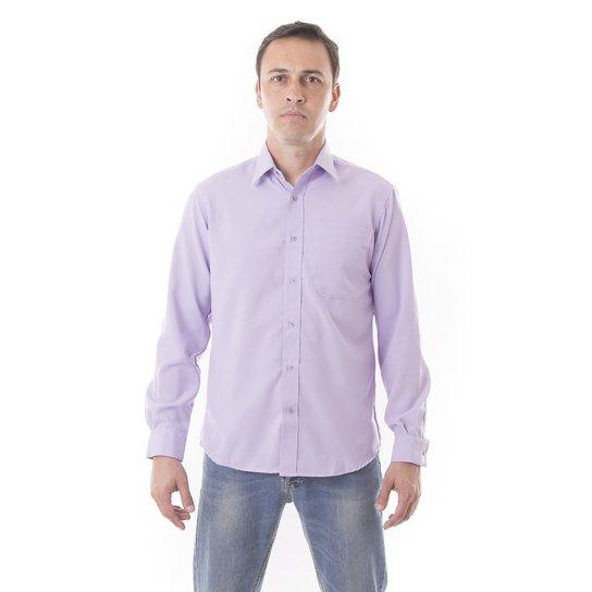 58c76eeb77 Camisa Social Lisa Microfibra - Manga Longa - Vuzillo - Compre Agora ...
