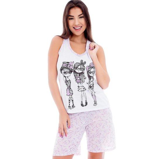 041d87125 Pijama Nadador Feminino Luna Cuore - Lilás - Compre Agora   Zattini