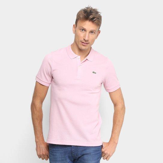 Camisa Polo Lacoste Live Piquet Masculina - Rosa Claro - Compre ... d2075af560