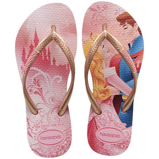 a1df257e9 Chinelo Infantil Havaianas Slim Disney Princesas - Compre Agora ...