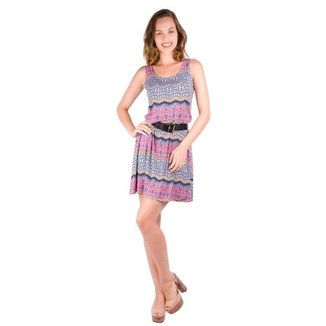 Vestido Banna Hanna Visco Regata Com Cinto ad0825f0a8d
