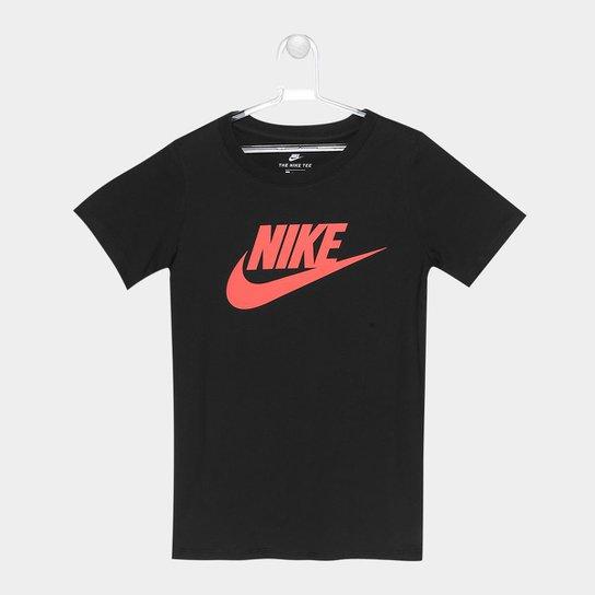 cacc995b46 Camiseta Nike Ctn Crew Fut Icon TD Tee Infantil - Coral - Compre ...