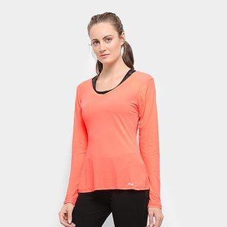 9989da8c7d Camiseta Fila Bio Coat Manga Longa Feminina