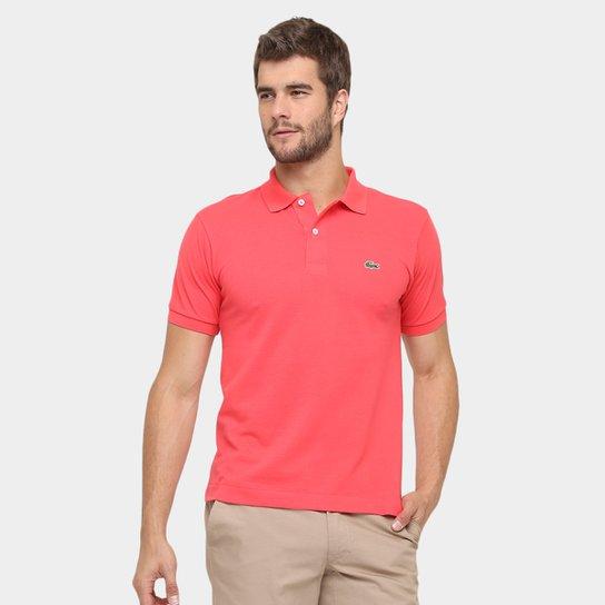 Camisa Polo Lacoste Piquet Original Fit Masculina - Coral - Compre ... e9f7db74dd320