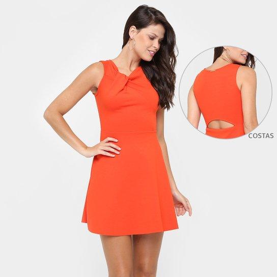 c6adb07c7e Vestido Morena Rosa Evase Recorte Costas - Compre Agora