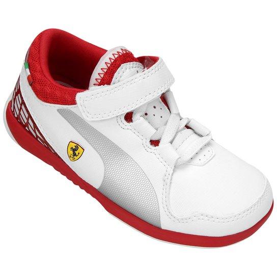 9d113abbde Tênis Infantil Puma Valorosso Scuderia Ferrari 5 - Branco+Vermelho