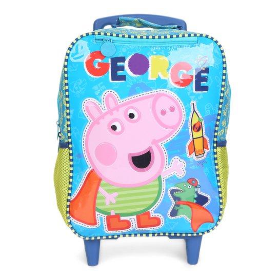 dd699f3be Mochila Escolar Infantil Xeryus Rodinhas Estampa Peppa Pig - Azul Turquesa