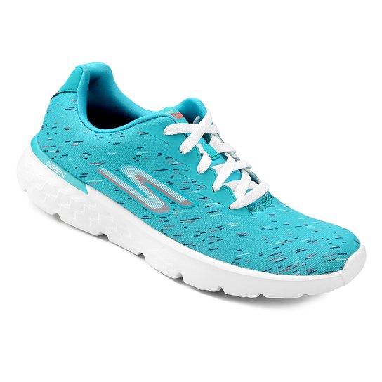 Tênis Skechers Go Run 400 Instant Feminino - Azul Turquesa - Compre ... 4d1467354d60a
