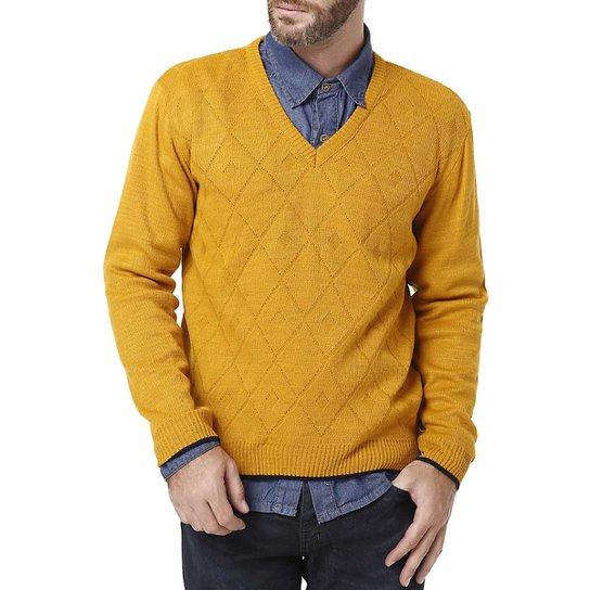 Suéter Masculino Mostarda - Compre Agora   Zattini 47f842921f