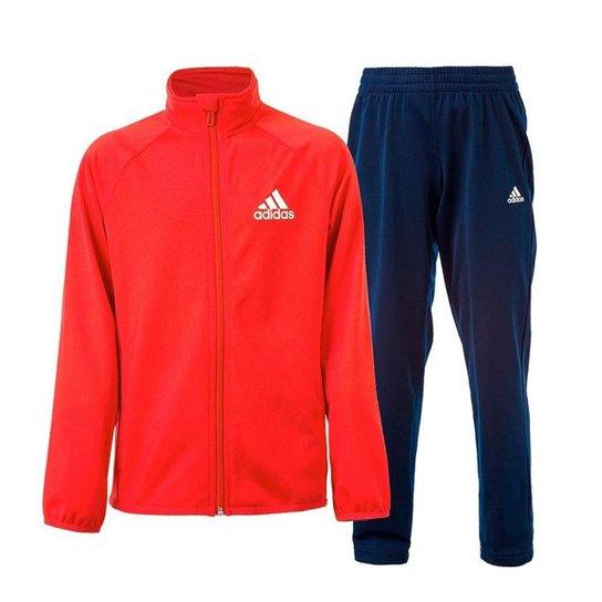 599b762f3 Agasalho Infantil Adidas Yb Entry Oh Masculino - Branco e Vermelho ...
