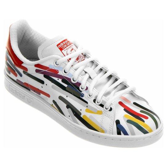 Tênis Adidas Stan Smith Pharrel - Branco+Vermelho 57c7d1f42a84c