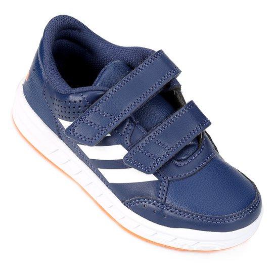 28e1e2f4f2c Tênis Infantil Adidas Altasport Cf K Velcro - Azul e Laranja ...