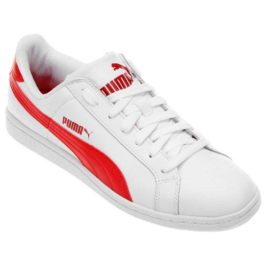 7358725db22 Tênis Couro Puma Smash L - Branco e Vermelho - Compre Agora