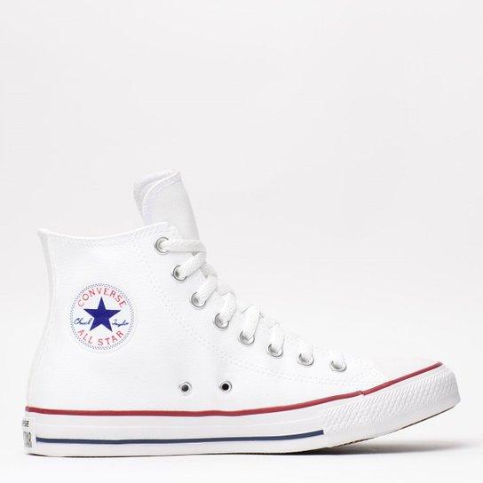 bf33ca5c3 Tênis Converse Chuck Taylor All Star Hi Branco Ve - Compre Agora ...