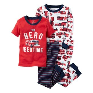 Kit Infantil 4 Peças Carter s Pijama The Hero Of Bedtime Masculino b457ddca986