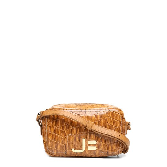 39b259841 Bolsa Couro Jorge Bischoff Mini Bag Transversal Logo Feminina - Mostarda