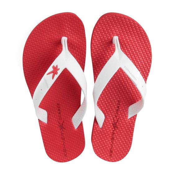 ab58414a15094 Chinelo Kenner Summer Colors Masculino - Branco e Vermelho - Compre ...