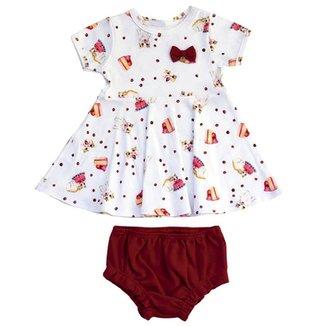584a483f63 Vestido Infantil Cherry Kitten Grow Up