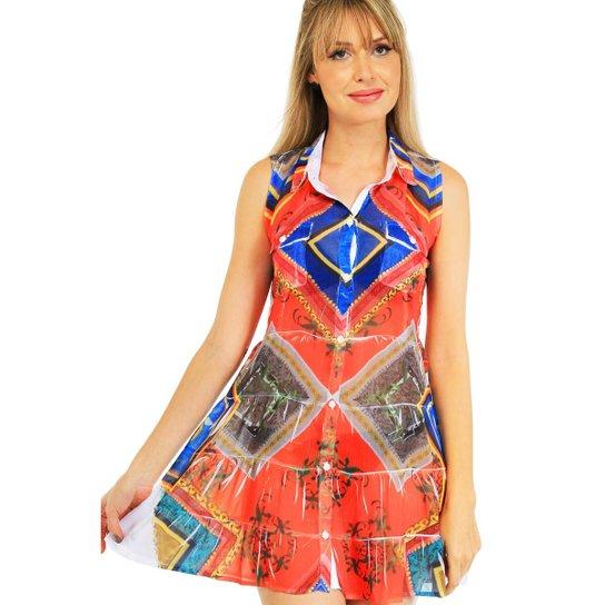 40f4d4500 Vestido Chemise 101 Resort Wear Babado - Compre Agora   Zattini