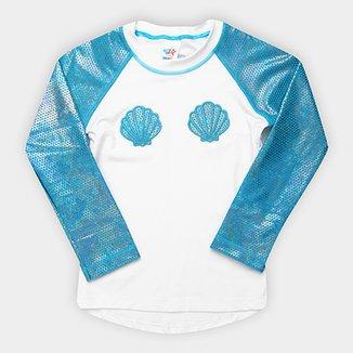 31bc97491a017 Camiseta Infantil Tip Top Moda Praia Sereia FPS+50 Feminina