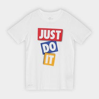 73b6dd987fb3d Camiseta Infantil Nike B Dry Dfc Jdi Tape Masculina