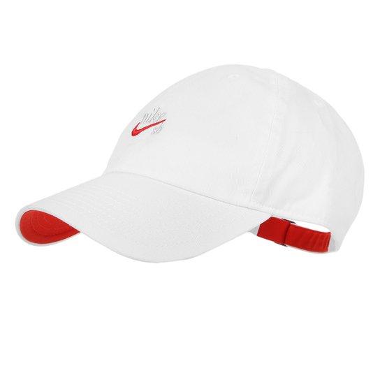 494adb895a Bonés Nike Aba Curva U Nk H86 Cap Icon Masculino - Branco e Vermelho ...