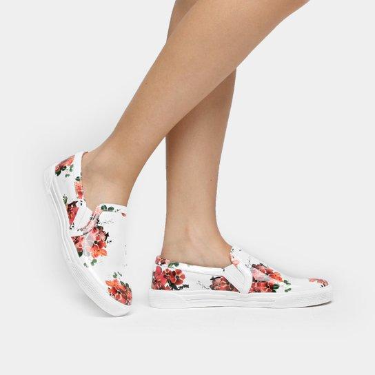 bf8a6172a3 Tênis Slip On Couro Luiza Barcelos Floral Feminino - Compre Agora ...