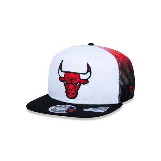 Boné 920 Chicago Bulls NBA Aba Curva New Era - Branco e Vermelho ... 1990bbf7651
