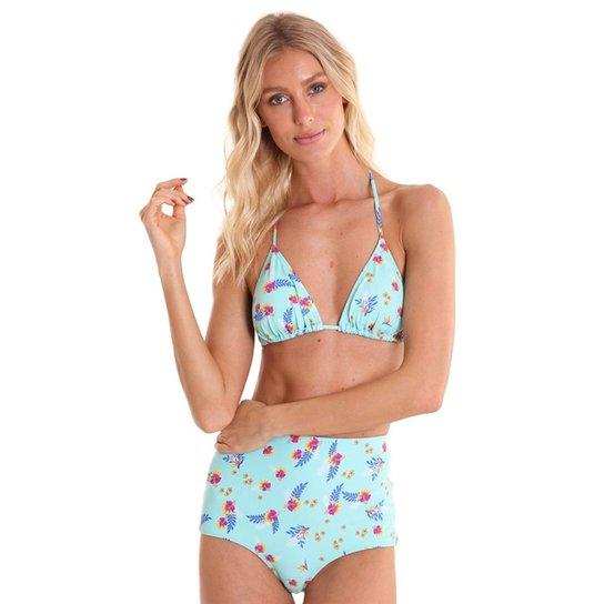 fbc28cec03ee34 Calcinha Biquíni Líquido Hot Pants Aloha Feminina - Azul Turquesa
