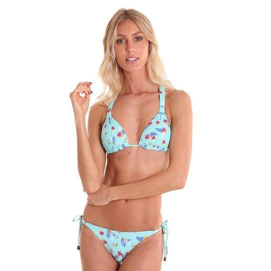 de5e63c8f Calcinha Biquíni Líquido Lacinho Aloha Feminina - Azul Turquesa ...