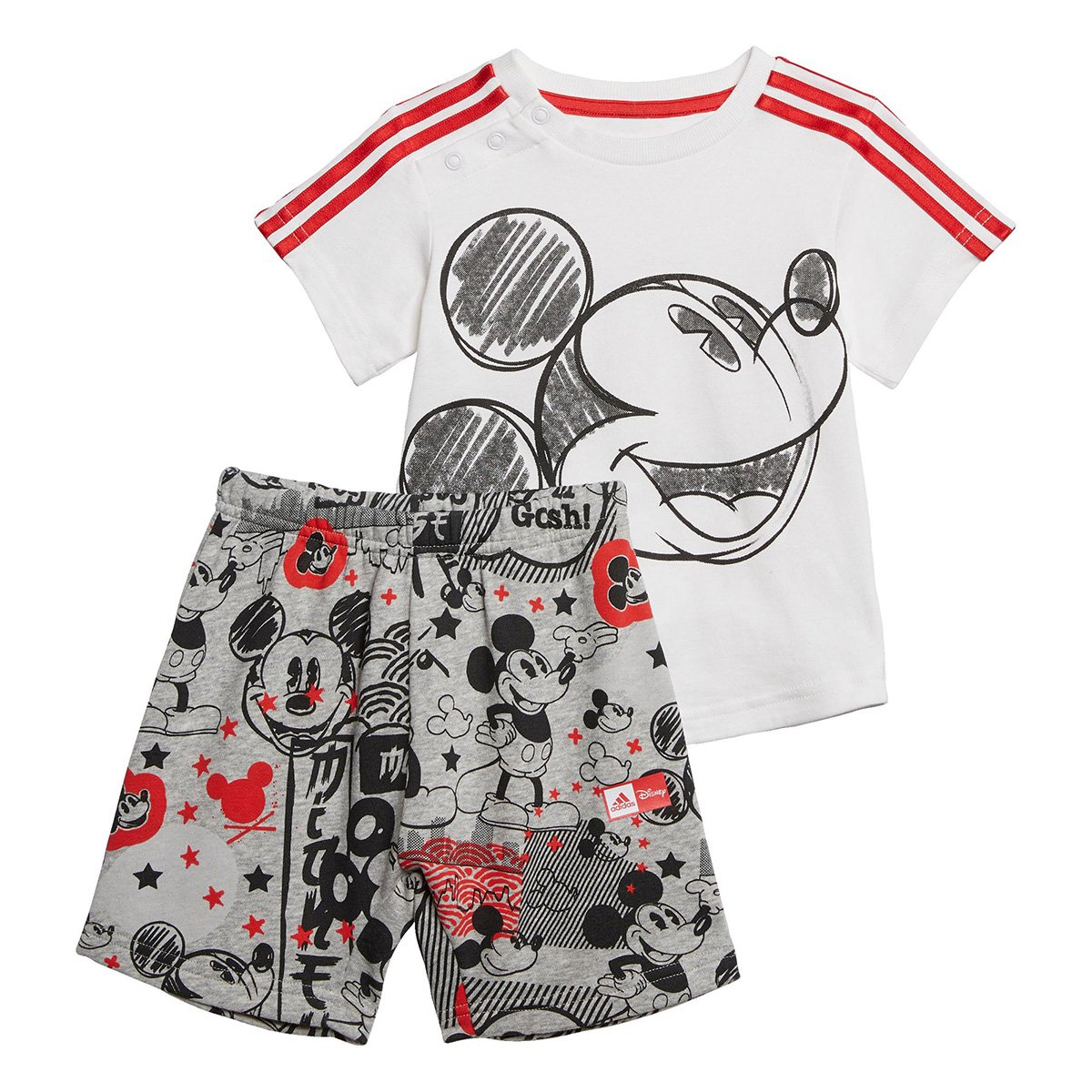 Conjunto Infantil Adidas Mickey Mouse Summer Set 2 Masculino