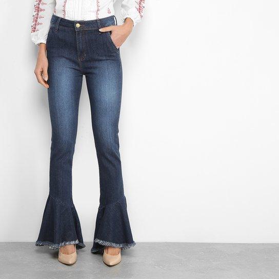 Calça Jeans Flare MOB Babados Cintura Alta Feminina - Compre Agora ... 61cf380bf9