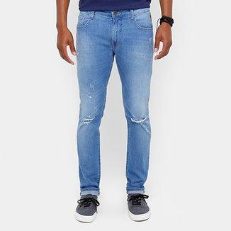 Calça Jeans Super Skinny Coca Cola Destroyed Stone Masculina 55b8161d9c