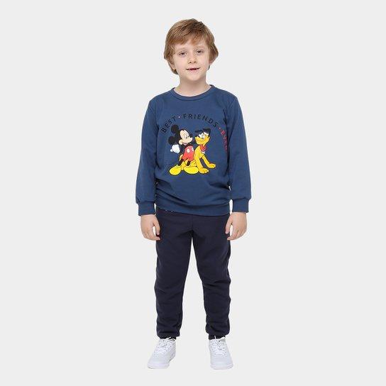 e7bc044f10 Conjunto Moletom Infantil Disney Mickey Pluto Masculino - Compre ...