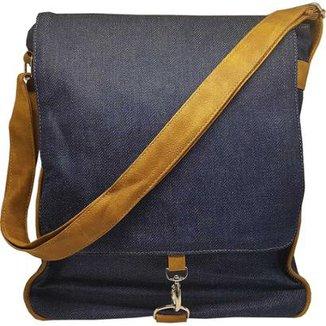 5b86f6f87 Bolsa Use Fast Estilo Carteiro com Gancho Jeans