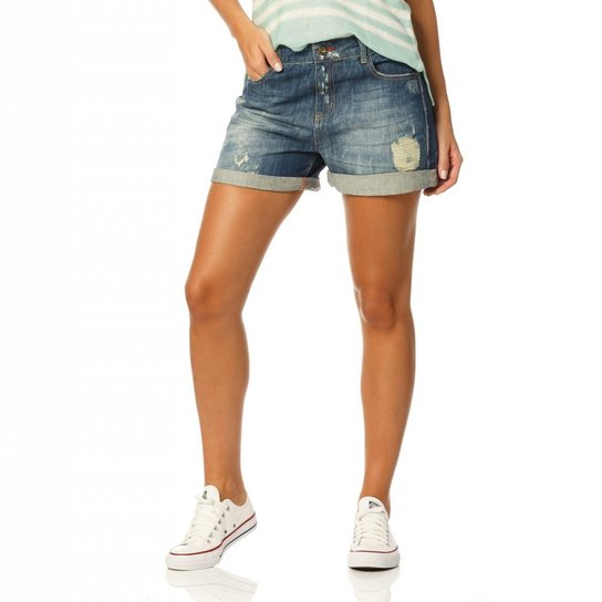 2bed1f9a6 Shorts Denim Zero Boyfriend Barra Dobrada | Zattini