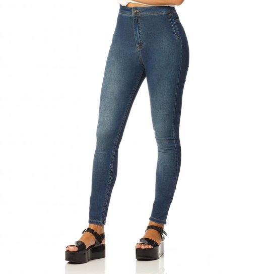 10104e3f8f0a9 Calça Jeans Denim Zero Cintura Alta Legging - Compre Agora